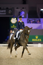 Minderhoud Hans Peter, (NED), Glock's Flirt<br /> Grand Prix CDI 4*<br /> Indoor Brabant - 's Hertogenbosch 2015<br /> © Hippo Foto - Dirk Caremans