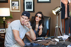 Kim Kardashian and her fiance Kris Humphries shopping at Scott Hill Bespoke Designs.(Beverly Hills, CA)