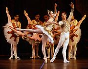 GASTON DE CARDENAS/EL NUEVO HERALD - Jordan Long and Andres Esteves performs Raymonda Divertiments with Cuban Classical Ballet at the Manuel Artime Theater in Miami, Florida  March 4, 2007.
