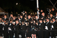 Press photographers point towards red carpet arrivals at the Heminway & Gellhorn gala screening at the 65th Cannes Film Festival France. Friday 25th May 2012 in Cannes Film Festival, France.