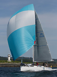Sailing - SCOTLAND  - 27th May 2018<br /> <br /> 3rd days racing the Scottish Series 2018, organised by the  Clyde Cruising Club, with racing on Loch Fyne from 25th-28th May 2018<br /> <br /> IRL1335, Spirit of Jacana, AlanBruceJames Douglas, Carrickfergus SC <br /> <br /> Credit : Marc Turner<br /> <br /> Event is supported by Helly Hansen, Luddon, Silvers Marine, Tunnocks, Hempel and Argyll & Bute Council along with Bowmore, The Botanist and The Botanist