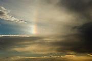 Israel, Negev rainbow in the Desert landscape