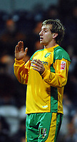 Photo: Paul Greenwood.<br />Preston North End v Norwich City. Coca Cola Championship. 20/02/2007. Norwich's Chris Brown reacts after missing an opportunity