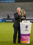 Bill Beaumont lifts the trophy during the presentation ceremony of the World Rugby U20 Championship Final   match England U20 -V- Ireland U20 at The AJ Bell Stadium, Salford, Greater Manchester, England onSaturday, June 25, 2016. (Steve Flynn/Image of Sport)