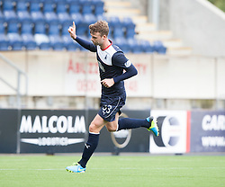 Falkirk's Rory Loy cele scoring their first goal from a penalty.<br /> half time : Falkirk 1 v 0 Queen of the South, Scottish Championship 5/10/2013.<br /> ©Michael Schofield.