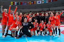 06-12-2019 JAP: Norway - Netherlands, Kumamoto<br /> Last match groep A at 24th IHF Women's Handball World Championship. / The Dutch handball players won in an exciting game of fear gegner Norway and wrote in the last group match at the World Handball  World Championship history (30-28). / Team Netherlands