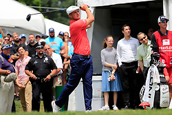 June 24, 2018 - Cromwell, CT, U.S. - CROMWELL, CT - JUNE 24: Bryson DeChambeau of the United States drives from the 1st tee during the Final Round of the Travelers Championship on June 24, 2018 at TPC River Highlands in Cromwell, Connecticut. (Photo by Fred Kfoury III/Icon Sportswire) (Credit Image: © Fred Kfoury Iii/Icon SMI via ZUMA Press)