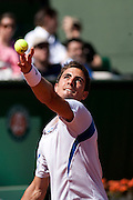 Roland Garros 2011. Paris, France. May 25th 2011..French player Maxime TEIXEIRA against Roger FEDERER