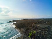 Kaieie Heiau, Ninole Cove, Black Sand Beach, Punaluu, Big Island of Hawaii, Hawaii