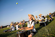 The Oregon Marching Band practices in Suttons Bay, Michigan on July 6, 2010. The band practices all week for the final performance of the season.