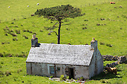 Derelict farm and at Kalnakill near Applecross, Wester Ross in the Scottish Highlands