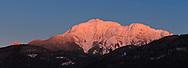 Alpenglow on  Mount Blanshard from Pitt Meadows, British Columbia, Canada
