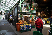 Borough Market is open but eerily quiet and silent on empty streets as lockdown continues and people observe the stay at home message in the capital on 11th May 2020 in London, England, United Kingdom. Coronavirus or Covid-19 is a new respiratory illness that has not previously been seen in humans. While much or Europe has been placed into lockdown, the UK government has now announced a slight relaxation of the stringent rules as part of their long term strategy, and in particular social distancing.
