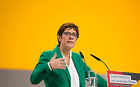 DEU, Deutschland, Germany, Hamburg, 08.12.2018: Die neue CDU-Vorsitzende Annegret Kramp-Karrenbauer beim Bundesparteitag der CDU in der Messe Hamburg.