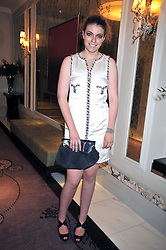 LOLA LENNOX at a dinner hosted by designer Pauric Sweeney held in The Postilion Roon, The Langham, ondon on 23rd June 2009.