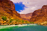 Whitewater rafting, Rapids in Marble Canyon, Grand Canyon National Park, Arizona USA