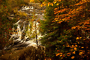 Upson Falls, Potato River, Upsons, Wisconsin, natural nature peaceful tranquil tranquility water waterfall trees autumn colours forest woodland