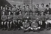 "Galway-All-Irland Final Runners-up 1922. They were defeated by Dublin 0-6 to 0-4. Back Row: Paddy Kilroy, Martin Egan, Willie Flanagan, Denis Egan, Paddy Reddington, Tom Hession and John Egan. Middle Row: Frank Benson, Tom Molloy, J Hannify, Mick Donnellan, Mick ""Knacker"" Walsh, Gilbey Jennings, John Kirwan, Martin Walsh and Leonard McGrath. Front Row: Paddy Roche and Harry Cunningham."