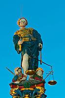 Justice Fountain (Gerechtigkeitsbrunnen), in the medieval city center of Bern, Canton Bern, Switzerland