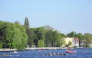 Berlin-Grünau. GERMANY.  GV's. General Views. Juniors on the water at the  Frühregatta Saturday 30/04/2011 [Mandatory Credit; Peter Spurrier/Intersport-images]