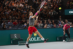 November 1, 2018 - Paris, France - DOMINIC THIEM of Austria in his third round match in the Rolex Paris Masters tennis tournament in Paris France. (Credit Image: © Christopher Levy/ZUMA Wire)