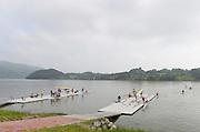 Chungju, South Korea. 2013 FISA World Rowing Championships, General Views of the  Tangeum Lake International Regatta Course. 08:46:03  Saturday  24/08/2013 [Mandatory Credit. Peter Spurrier/Intersport Images]