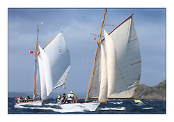 Day five of the Fife Regatta, Race from Portavadie on Loch Fyne to Largs. <br /> <br /> Fiona, Didier Cotton, FRA, Gaff Cutter, Wm Fife 3rd, 2005 and Oblio, Gordon Turner, GBR, Gaff Cutter, Wm Fife 3rd, 2007<br /> <br /> <br /> * The William Fife designed Yachts return to the birthplace of these historic yachts, the Scotland's pre-eminent yacht designer and builder for the 4th Fife Regatta on the Clyde 28th June–5th July 2013<br /> <br /> More information is available on the website: www.fiferegatta.com