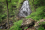 Crabtree Falls lies a brief distance off the Blue Ridge Parkway in North Carolina.