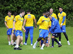 Bristol Rovers Manager, John Ward watches as his player are put through their paces - Photo mandatory by-line: Joe Meredith/JMP - Tel: Mobile: 07966 386802 24/06/2013 - SPORT - FOOTBALL - Bristol -  Bristol Rovers - Pre Season Training - Npower League Two