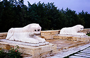 Road of Lions sculpture at Anıtkabir memorial tomb mausoleum of Mustafa Kemal Atatürk, Turkey 1973