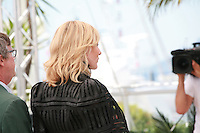 Director Todd Haynes and Actress Cate Blanchett face the cameras at the photocall for the film Carol at the 68th Cannes Film Festival, Sunday May 17th 2015, Cannes, France.