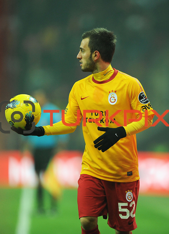 Galatasaray's Emre Colak during their Turkish Super League soccer match Galatasaray between IBBSpor at the TT Arena at Seyrantepe in Istanbul Turkey on Tuesday, 03 January 2012. Photo by TURKPIX