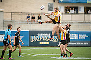Arizona State University takes on the Univeristy of Colorado at Red Bull Uni 7s Rugby Qualifiers at Infinity Park in Glendale, CO, USA, on 25 August, 2016.