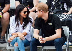 Prince Harry and his girlfriend Meghan Markle attend the wheelchair tennis competition during the Invictus Games in Toronto, ON, Canada, Monday September 25, 2017. This is Prince Harry's first public appearance with Markle. Photo by Nathan Denette/CP/ABACAPRESS.COM