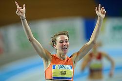 07-02-2010 ATLETIEK: NK INDOOR: APELDOORN<br /> Nederlands kampioen 800 meter Yvonne Hak<br /> ©2010-WWW.FOTOHOOGENDOORN.NL