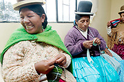 Cajamarca Women's centre. Women knitting