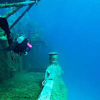 Exploring Starboard, USS Kittiwake, Grand Cayman