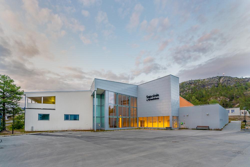 Saga skole er en offentlig grunnskole i Alta kommune, Finnmark fylke. Bygningen huser både skole med gymsal, og grendehus.
