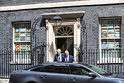 Britain's Prime Minister Boris Johnson leaves 10 Downing Street to attend the weekly Prime Ministers' Questions session, in parliament in London, Wednesday, May 13, 2020. (Photo/ Vudi Xhymshiti)
