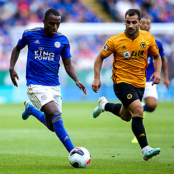 Ricardo Pereira of Leicester City takes on Jonny of Wolverhampton Wanderers - Mandatory by-line: Robbie Stephenson/JMP - 11/08/2019 - FOOTBALL - King Power Stadium - Leicester, England - Leicester City v Wolverhampton Wanderers - Premier League