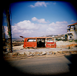 Buildings and cars remain damaged throughout Aytaroun, Southern Lebanon, Oct. 23, 2006. Aytaroun is mere kilometers from the border with Israel and is always on the frontline of any conflict between Israel and Hezbollah.