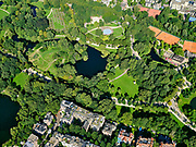 Nederland, Noord-Holland, Amsterdam, 02-09-2020; overzicht Vondelpark met tennisvelden (Kattenlaan en Festina). Overview Vondelpark with tennis courts (Kattenlaan and Festina).<br /> <br /> luchtfoto (toeslag op standard tarieven);<br /> aerial photo (additional fee required);<br /> copyright foto/photo Siebe Swart