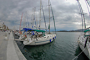 View of the marina of the city of Volos, Thessaly, Greece