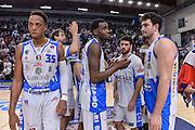 DESCRIZIONE : Beko Legabasket Serie A 2015- 2016 Playoff Quarti di Finale Gara3 Dinamo Banco di Sardegna Sassari - Grissin Bon Reggio Emilia<br /> GIOCATORE : Team Dinamo Banco di Sardegna Sassari<br /> CATEGORIA : Postgame Ritratto Delusione<br /> SQUADRA : Dinamo Banco di Sardegna Sassari<br /> EVENTO : Beko Legabasket Serie A 2015-2016 Playoff<br /> GARA : Quarti di Finale Gara3 Dinamo Banco di Sardegna Sassari - Grissin Bon Reggio Emilia<br /> DATA : 11/05/2016<br /> SPORT : Pallacanestro <br /> AUTORE : Agenzia Ciamillo-Castoria/L.Canu