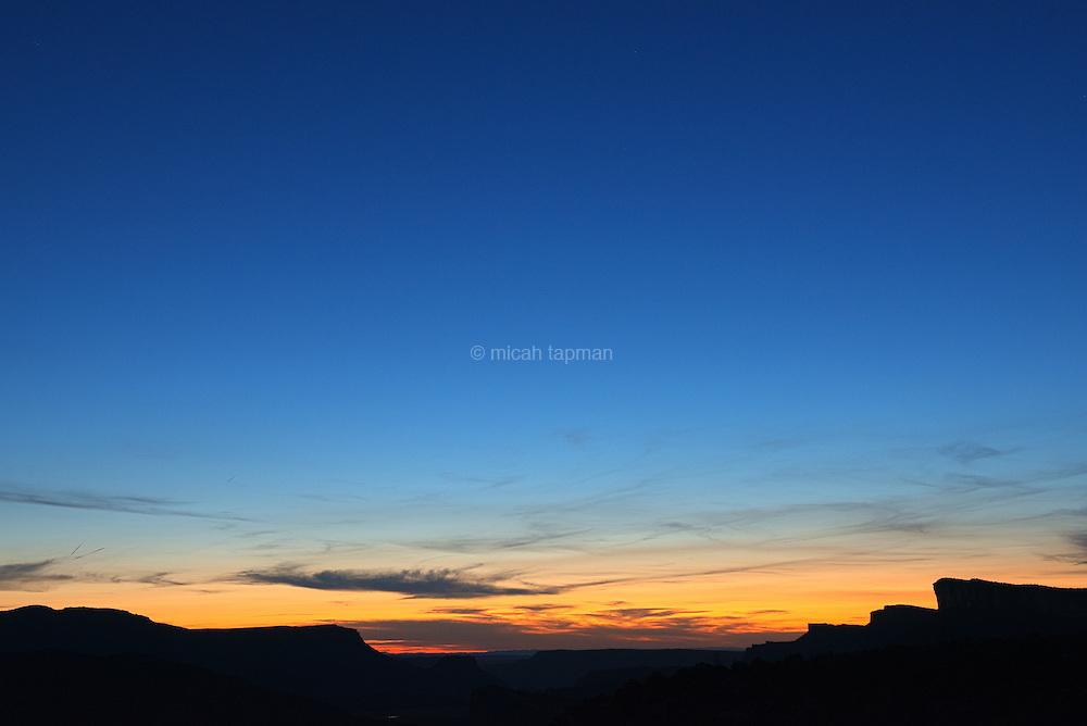 Sunset over Moab, Utah.