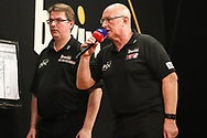 Darts referee Paul Hinks during the 2018 Grand Slam of Darts at Aldersley Leisure Village, Wolverhampton, United Kingdom on 16 November 2018. Picture by Shane Healey.