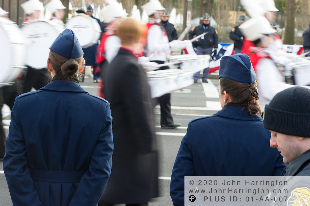 Participants in the parade for the 57th Presidential Inauguration of President Barack Obama at the U.S. Capitol Building in Washington, DC January 21, 2013.