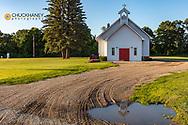Preston Lutheran Church in the rural Sheyenne River Valley near Fort Ransom, North Dakota, USA