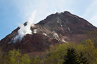 Mt Usu Smoking - Mount Usu is an active volcano in the Shikotsu-Toya National Park, Hokkaido.  It has erupted four times since 1900 in 1910, 1944, 1945 and most recently 2000. To the north lies Lake Toya.