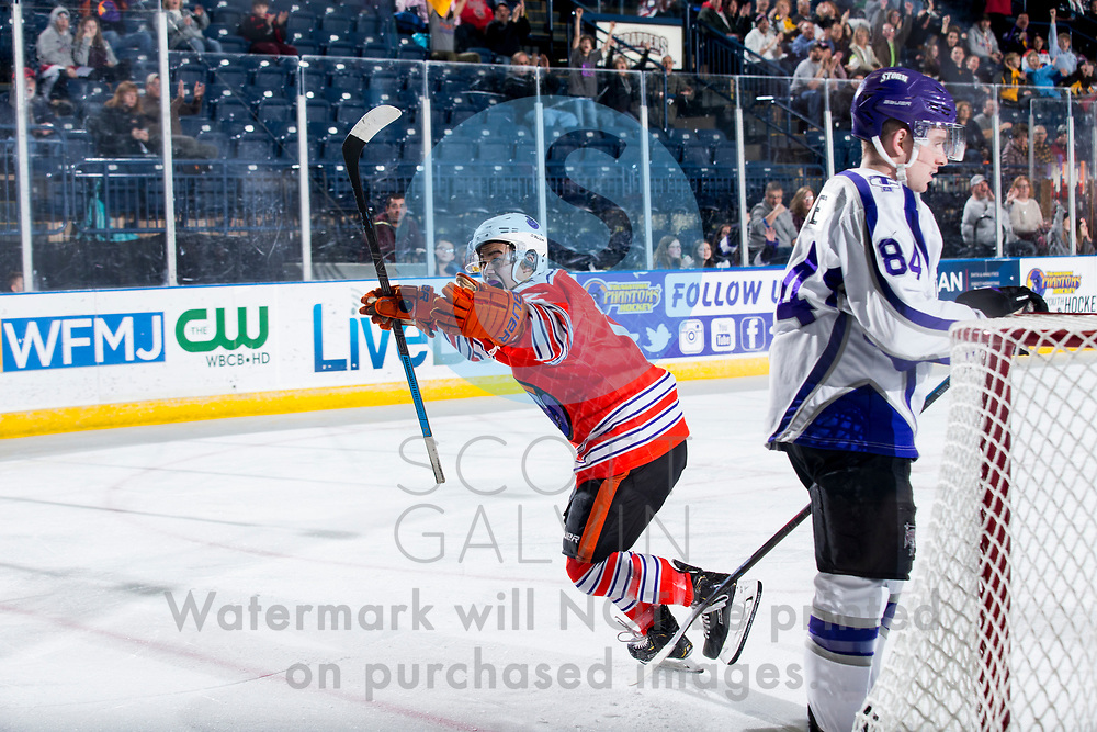 Youngstown Phantoms win 5-3 against the Tri-City Storm at the Covelli Centre on January 18, 2020.<br /> <br /> Yusaku Ando, forward, 12